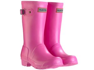 Hunter wellies for girls and boys including the pink childrens Hunter wellies